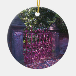 Gates to Strawberry Fields Liverpool Christmas Ornament