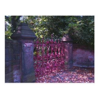 Gates to Strawberry Fields Liverpool Postcard
