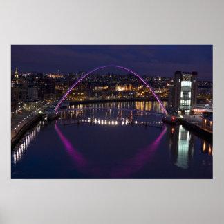 Gateshead Millennium Bridge Posters