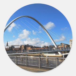 Gateshead Millennium Bridge Round Sticker