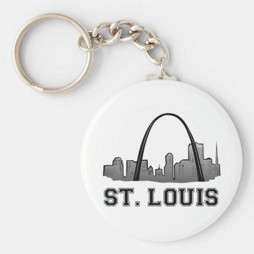 Gateway Arch in St. Louis Basic Round Button Key Ring