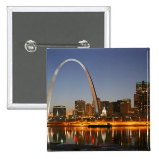 Gateway Arch St. Louis Mississippi at Night 15 Cm Square Badge