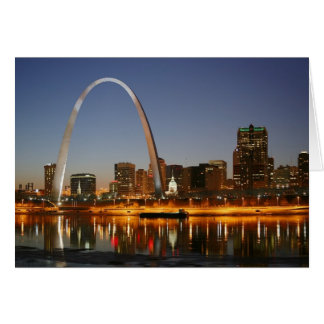 Gateway Arch St. Louis Mississippi at Night Card