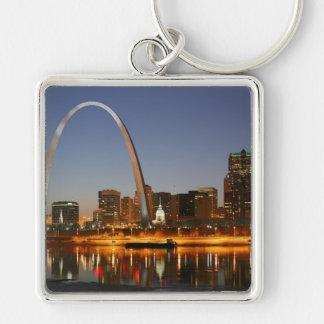 Gateway Arch St. Louis Mississippi at Night Key Ring
