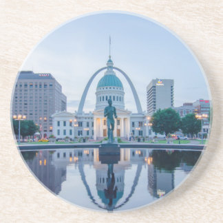 gateway arch st.louis missouri skyline at night coaster