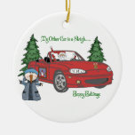 Gateway-Santa's Sleigh-Red Christmas Tree Ornament