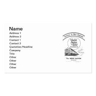 Gateway to New England,New Haven Railroad Pack Of Standard Business Cards