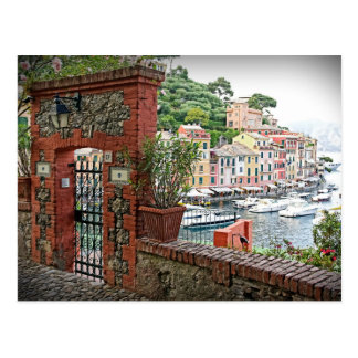 Gateway to Portofino, Italia Postcard