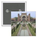 Gateway to Taj Mahal, India 15 Cm Square Badge
