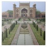 Gateway to Taj Mahal, India Large Square Tile