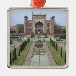 Gateway to Taj Mahal, India Silver-Colored Square Decoration