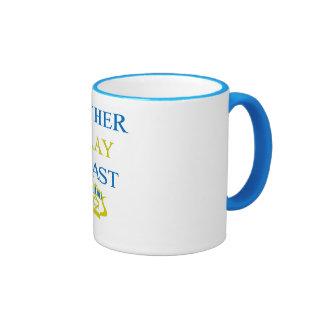 Gather Pray Feast Hanukkah Ringer Mug