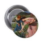Gather Ye Rosebuds by John W. Waterhouse Pinback Buttons