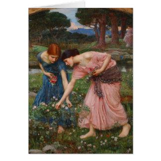 Gather Ye Rosebuds by John W. Waterhouse Card