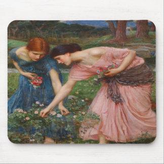 Gather Ye Rosebuds by John W. Waterhouse Mouse Mat