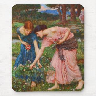 Gather Ye Rosebuds While Ye May by John Waterhouse Mouse Pad