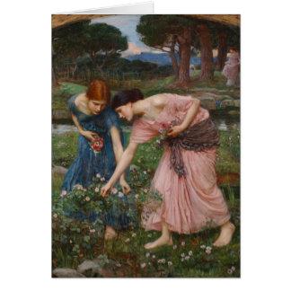 Gather Ye Rosebuds While Ye May - Waterhouse Card