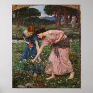 Gather Ye Rosebuds While Ye May - Waterhouse Poster