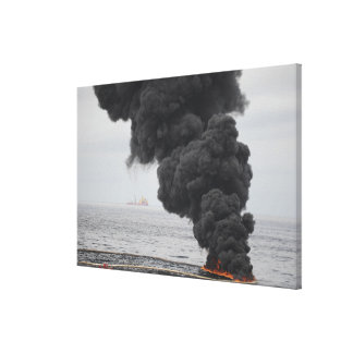 Gathered concentrated oil burns canvas print
