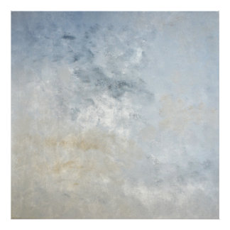 'Gathered' Grey and Beige Abstract Art Print