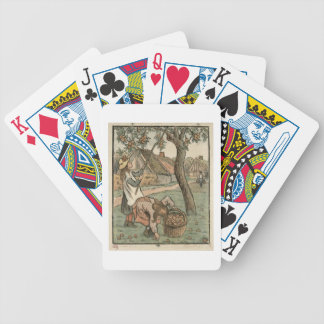 Gathering Apples, from 'Travaux des Champs', engra Bicycle Playing Cards