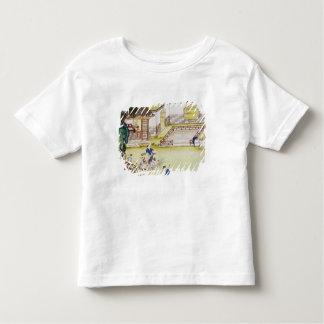 Gathering bamboo to make paper toddler T-Shirt
