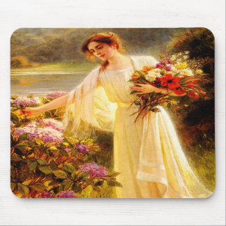Gathering Flowers Mouse Pads