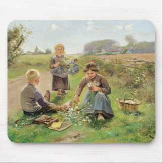 Gathering Flowers oil on canvas Mouse Pads