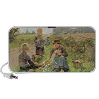 Gathering Flowers (oil on canvas) PC Speakers