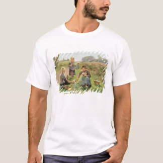 Gathering Flowers (oil on canvas) T-Shirt