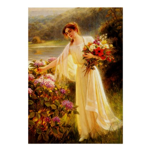 Gathering Flowers Print