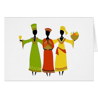 Gathering Kwanzaa Holiday Notecards Card