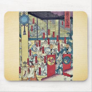 Gathering of gods at Izumo by Utagawa,  Sadahide Mouse Pad