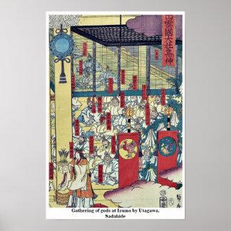 Gathering of gods at Izumo by Utagawa,  Sadahide Print