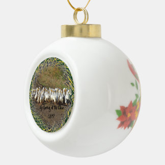 Gathering of the Clan Ceramic Ball Christmas Ornament