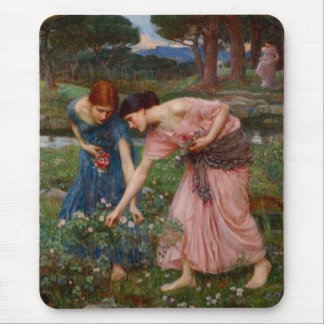 Gathering Rosebuds Mouse Pad