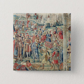 Gathering the Booty, Tapestry of David and Bathshe 15 Cm Square Badge