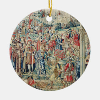 Gathering the Booty, Tapestry of David and Bathshe Christmas Ornament