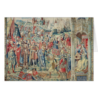 Gathering the Booty, Tapestry of David and Bathshe Greeting Card