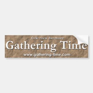 Gathering Time Text Bumper Sticker