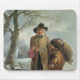 Gathering winter fuel mouse pad