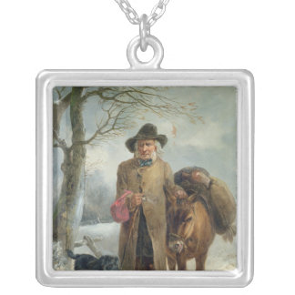Gathering winter fuel silver plated necklace