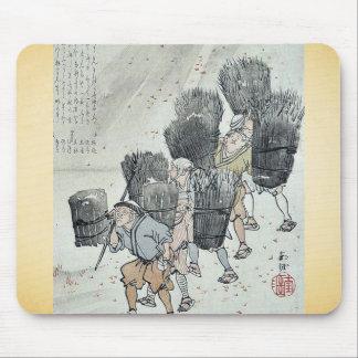 Gathering wood Ukiyoe Mouse Pad
