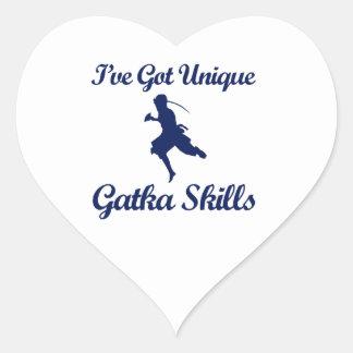 Gatka martial art designs sticker