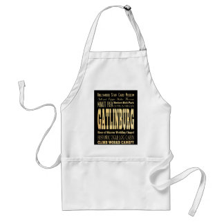 Gatlinburg City of Tennessee Typography Art Adult Apron