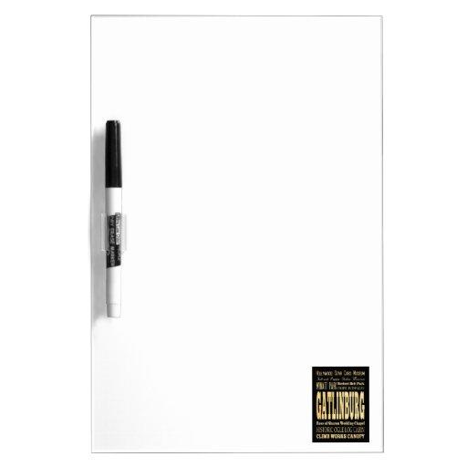 Gatlinburg City of Tennessee Typography Art Dry Erase Whiteboards