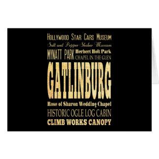 Gatlinburg City of Tennessee Typography Art Greeting Card