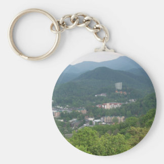 Gatlinburg, Tennessee Basic Round Button Key Ring