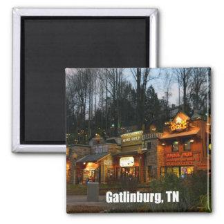 Gatlinburg, Tennessee Square Magnet