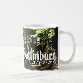 Gatlinburg, Tennessee - Village Square shopping Basic White Mug